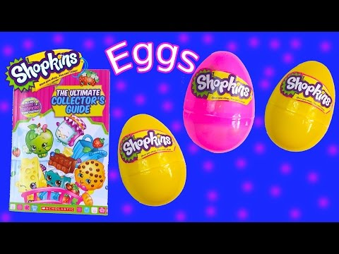 Shopkins Season 1 and 2 Surprise 3 Mystery Eggs Ultimate Collector