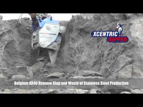 1  Belgium XR40 Remove Slag and Waste of Stainless Steel Production