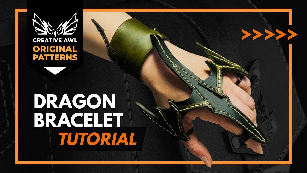 How to make leather dragon bracelet