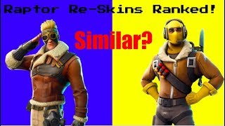 Ranking *EVERY RAPTOR RE-SKIN* In Fortnite Battle Royale!