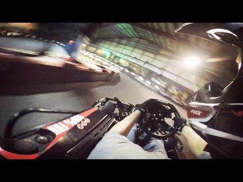 High-Speed Indoor Go Kart Racing (GoPro)