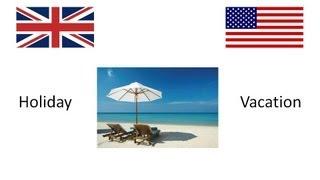 BRITISH ENGLISH VS AMERICAN ENGLISH VOCABULARY PART 1 (HD)