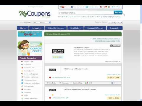 How To Use Omaha Steaks Coupon Codes