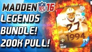 SEAN TAYLOR LEGENDARY BUNDLE! 200K PULL! Madden 16 Ultimate Team