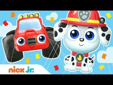 Balloon Parade W/ PAW Patrol, Blaze, Bubble Guppies & Dora! | Nick Jr.