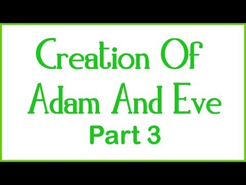 Creation Of Adam And Eve - Part 3 of 4