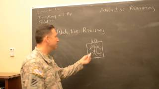Arguing the OE, Episode 15:  Thinking and the Soldier (on abductive reasoning)