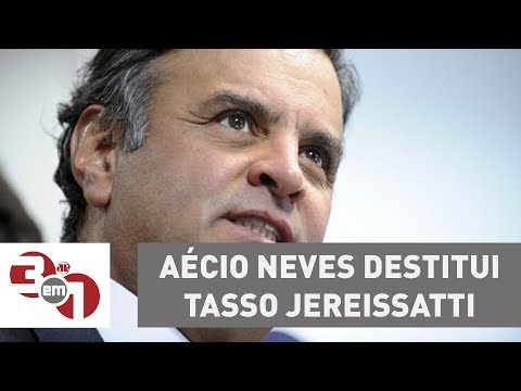 Aécio Neves destitui Tasso Jereissatti da presidência do PSDB