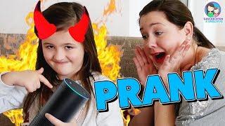 Das gerissenste Kind der Welt! Mama mit Alexa pranken 😂  Was mach ein Kind mit Alexa