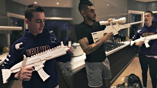 FaZe REAL LIFE Fortnite! SCAR vs BOLT SNIPER