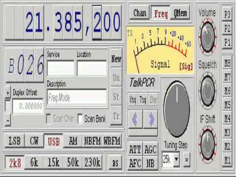 Listening to amateur radio stations from around the world