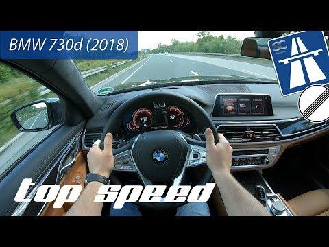 BMW 730d (2018) on German Autobahn - POV Top Speed Drive