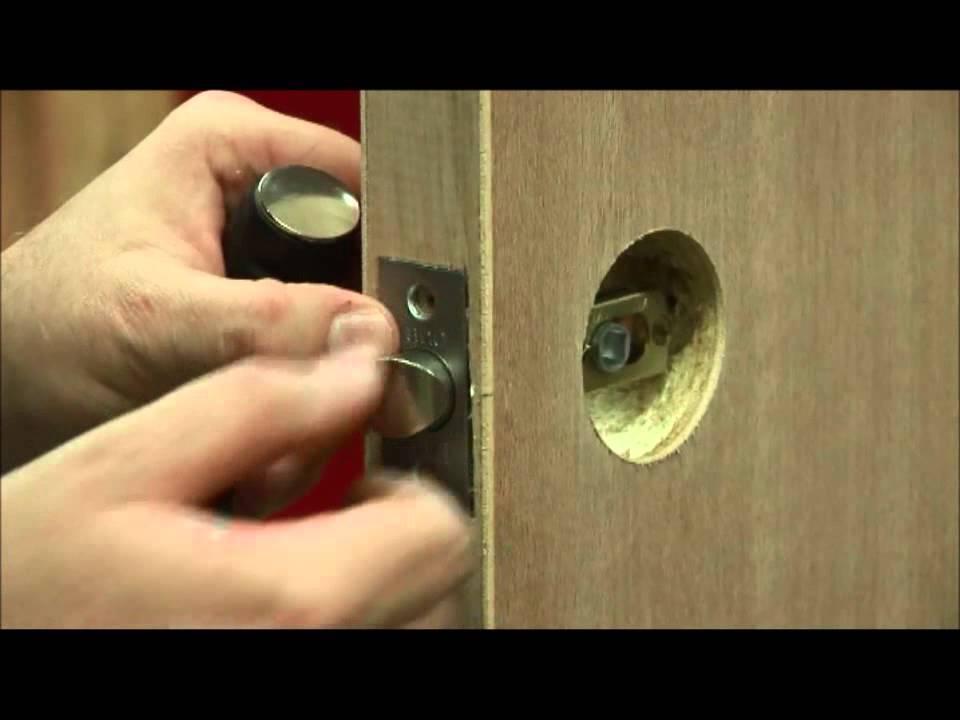 Lane Security Entrance Knobset Installation Youtube