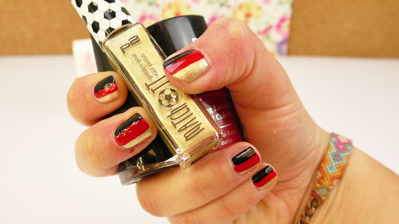 Cool Nageldesign Schwarz Rot Decoration Of Em 2016 | Super Einfache Nagel Idee