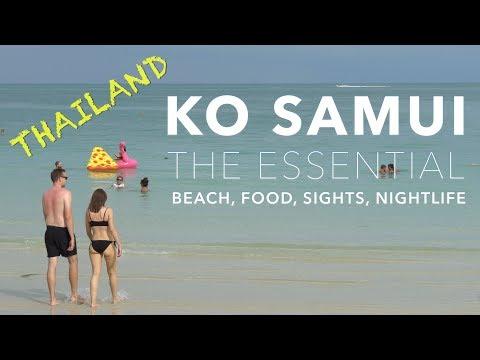 KO SAMUI, Thailand - The Essential - Beach, Food, Sights, Nightlife (4K)