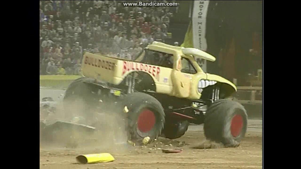Image result for bulldozer monster truck tom meents