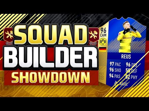 FIFA 18 Squad Builder Showdown TOTS 96 Marco REUS FIFA 18 TOTS REUS SQUAD BUILDER SHOWDOWN