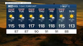 FORECAST: Excessive Heat Warning in effect throughout Arizona this week