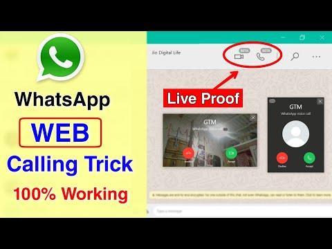 WhatsApp calling trick | whatsapp web video call enable trick | whatsapp web video calling feature