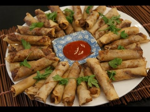 Spring rolls recipe how to make homemade spring rolls asian spring rolls recipe how to make homemade spring rolls asian chinese wok youtube forumfinder