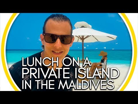Lunch On A Private Island in the Maldives