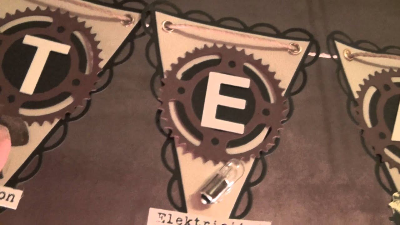 steampunk banner made with