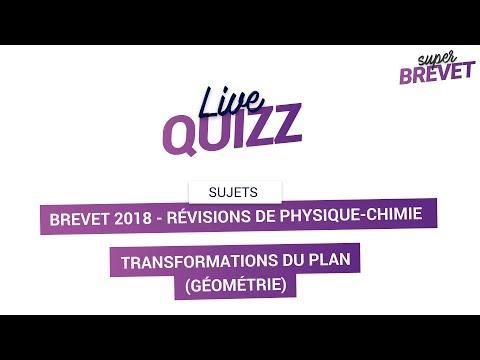Brevet 2018 - Révisions de Maths : Transformations du plan en Géométrie