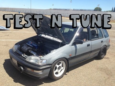 TNT : K20a2 Civic Wagon goes down the 1320 !