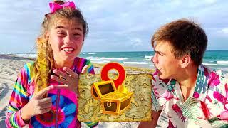 Настя и Артем - веселое приключение на пляже