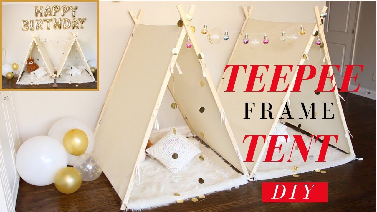 separation shoes dc263 dde32 DIY Sleepover Party Decoration Ideas | DIY TeePee Frame Tent | SUPER EASY!