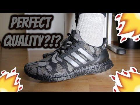 save off eae31 8900c Bape x Adidas Ultra Boost 'BLACK CAMO' REVIEW/ON-FEET - YouTube