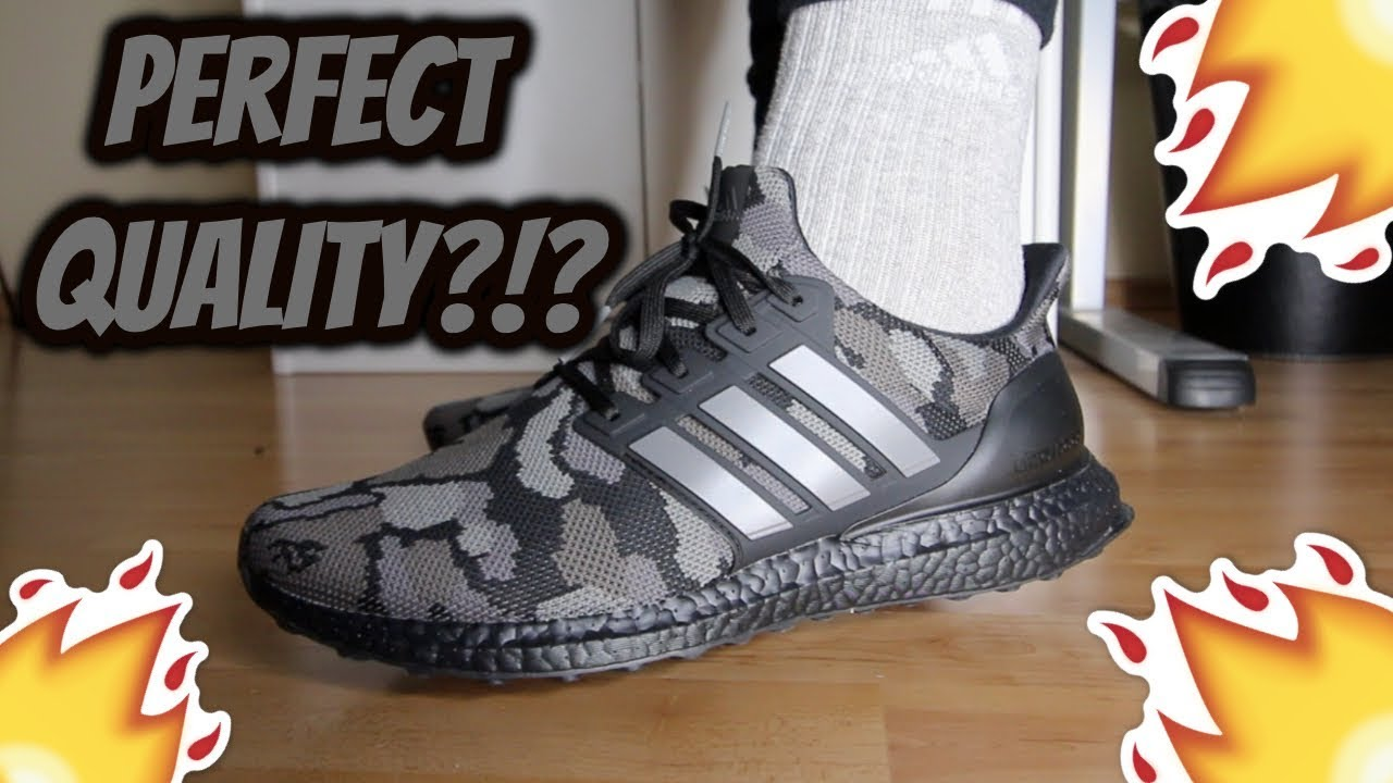 buy online 4145f b2fa9 Bape x Adidas Ultra Boost 'BLACK CAMO' REVIEW/ON-FEET