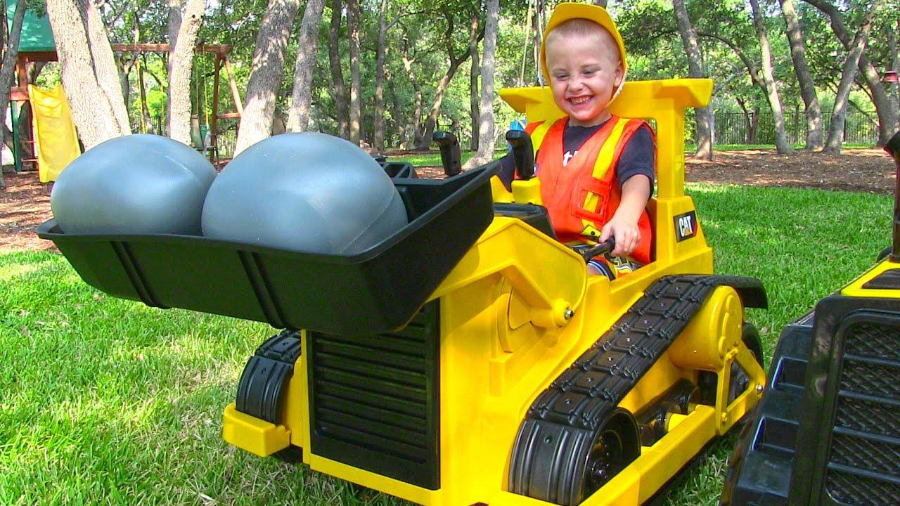 tractors and construction trucks for children backhoe dump