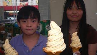 Family Mart Ice Cream(Aomori Ourin Apple),Kaohsiung,Taiwan 全家Fami霜淇淋(青森王林蘋果)