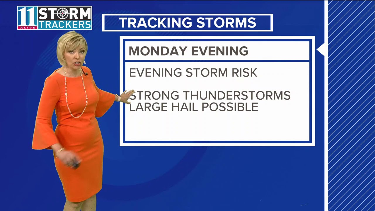 Storms expected over the next few days