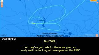 [REAL ATC] CACTUS E190 NO GEAR LANDING at Houston - KIAH
