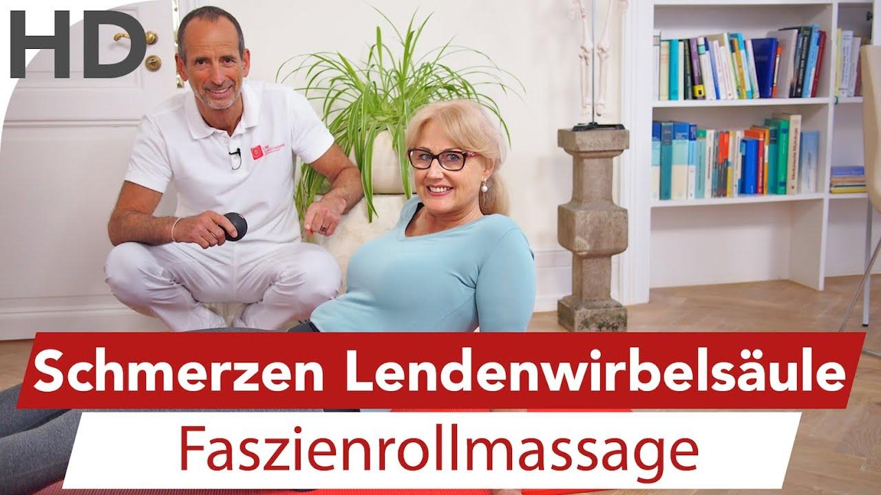 LWS Schmerzen Faszienrollmassage // Rückenschmerzen, Rückenübungen ...