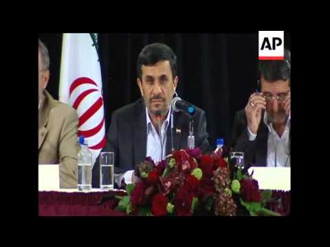 Iran's President Mahmoud Ahmadinejad says the Iranian government continues to support the right to s