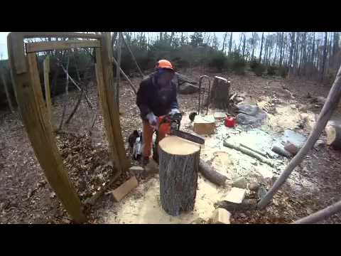 Making A Chair With A Chain Saw Youtube