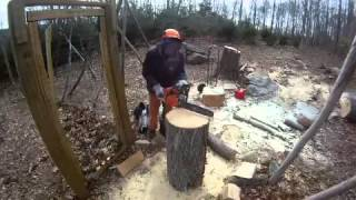 Making A Chair With A Chain Saw
