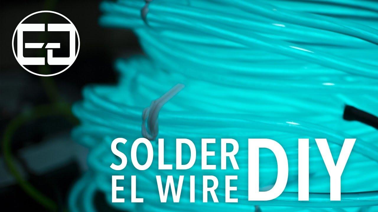 How to Solder EL Wire - Ellumiglow.com - YouTube