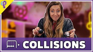 Elastic and Inelastic Collisions - Physics 101 / AP Physics 1 Review with Dianna Cowern