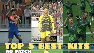 TOP 5 BEST KITS - PES 2019 MOBILE [NO PATCH]