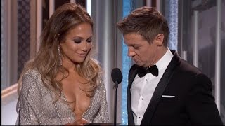 Awkward! Jeremy Renner Catches Jennifer Lopez Off-Guard With Boob Comment