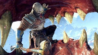 God of War 4 2018 Dragon Boss Fight No Damage Walkthrough Part 28  PS4 PRO
