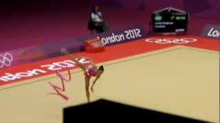 Daria Dmitrieva Russian Gymnast in third round London 2012 Olympics .MP4