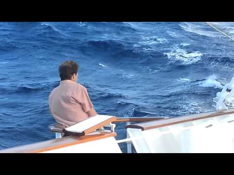 Waves on the Royal Clipper