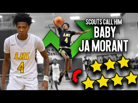 """SOMEBODY SIGN HIM!! Eric Gaines Is """"BABY JA MORANT""""!! From UNDERRATED to 4-Star PROSPECT!!"""