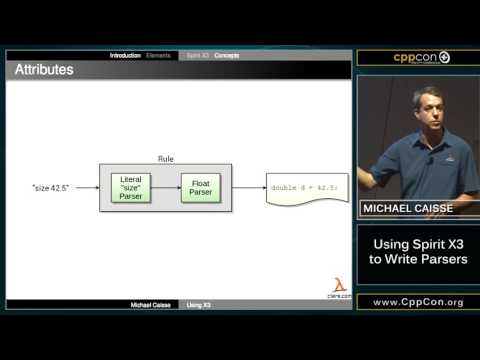 """CppCon 2015: Michael Caisse """"Using Spirit X3 to Write Parsers"""""""