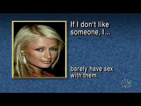 Late Night 'Celebrity Survey! 3/7/05